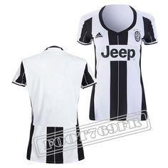 Promo Maillot Du Juventus Femme 16/17 Domicile Noir/Blanc   Foot769Fr