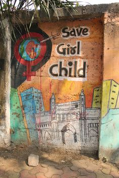 save girl child from animals on two legs running wild, via Flickr.