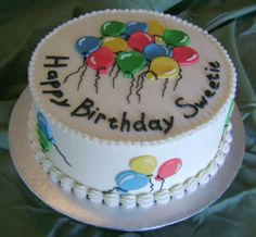 Online Cake Delivery in Delhi Cake Decorating Frosting, Creative Cake Decorating, Birthday Cake Decorating, Cake Decorating Techniques, Creative Cakes, Balloon Birthday Cakes, Round Birthday Cakes, Balloon Cake, Cake Icing