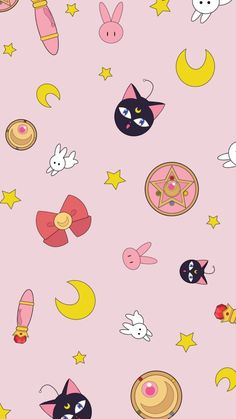 48 images about sailor moon on we heart it see more about sa Kawaii Wallpaper, Pastel Wallpaper, Wallpaper Iphone Cute, Tumblr Wallpaper, Cute Wallpapers, Wallpaper Backgrounds, Sailor Moon S, Sailor Moon Crystal, Sailor Mars