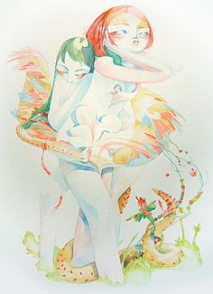 Veronique Meignaud is my favourite illustrator living in Canada (by way of France). Illustration Arte, Illustrations, French Artists, Bold Colors, Art Direction, Whimsical, Photos, Pictures, Watercolor