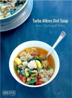 This low carb atkins diet soup was featured in Woman's World Magazine! Paleo and Whole 30 for only 136 calories per bowl!