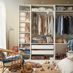 Când vine vorba de ținuțe vestimentare, nu este ușor să găsești inspirația în fiecare dimineață. Dar datorită accesoriilor KOMPLEMENT, interiorul garderobei tale va fi mai organizat, alegerea va fi mai ușoară, iar ziua mai frumoasă. Moving Places, Pax Wardrobe, Extra Bed, Stay Fresh, Ikea, Linen Bedding, Space Saving, Cleaning Wipes, Pillows