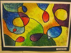 Lake and Hartville Elementary Art: Grade ART- Painting with Oil Pastels Art Lessons For Kids, Art For Kids, Chalk Pastels, Oil Pastels, Kandinsky For Kids, 7th Grade Art, Art Basics, Oil Pastel Art, Wassily Kandinsky