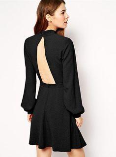 77d5bef51a9df9 Womens Slim A-Line Long Sleeve Dresses Promotion Dresses