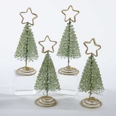 """Club Pack of 48 Christmas Tree with Gold Star Holiday Place Card Holders 5.75"""" by KSA, http://www.amazon.com/dp/B0052OIDDA/ref=cm_sw_r_pi_dp_erWFqb14H1KT0"""