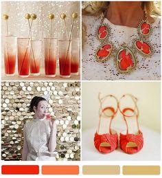 tangerine + gold
