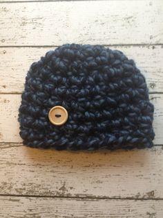 I LOVE hats! Newborn Crochet Baby Boy Hat, newborn knit baby boy hat, $15.00, via Etsy.