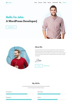 Ellora - Personal Resume & Portfolio Landing Page Template Web Developer Portfolio, Portfolio Resume, Portfolio Website Design, Portfolio Web Design, Web Design Websites, Wordpress Website Design, Web Ui Design, Cv Design, Resume Design