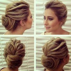 Penteado de madrinha para cabelo curto