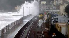Climate change and transport: effects of sea-level rise on an English railway line