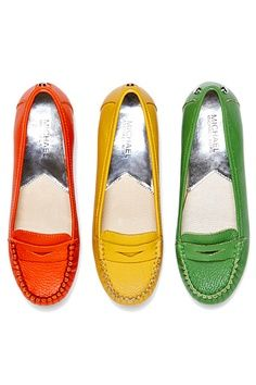 Michael Kors penny loafers A little obsessed with the green.