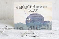 """Postkarte """"Diät ... och nö!"""" // postcard by TikiOno via DaWanda.com"""