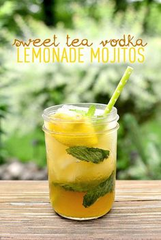 Sweet Tea Vodka Lemonade Mojitos are the ultimate in refreshing summer cocktails. Make ahead to sip at a moment's notice!   iowagirleats.com