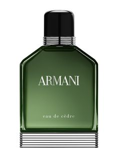 Cultures Hommes: Armani eau de cèdre