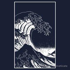 | black white hokusai great wave t shirts hoodies clothing style unisex ...