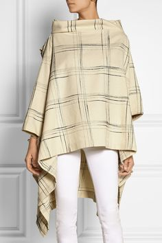 Vivienne Westwood Anglomania | Gaia checked wool-blend cape