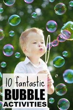 Who says you can't blow bubbles in the winter??! Not me! This collection of bubble activities for kids is PERFECT for miserable days when it's too snowy and cold to go outside.