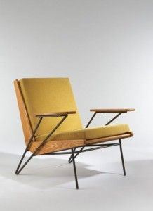 After graduating from the Ecole Nationale Superieure des Arts Decorative in Paris, Pierre Guariche began an internship with Marcel Ga. Vintage Dining Chairs, High Back Dining Chairs, Upholstered Dining Chairs, Chair And Ottoman, Pierre Guariche, Mid Century Armchair, Most Comfortable Office Chair, Adirondack Chairs For Sale, Lounge Chair Design