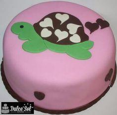 Torta de chocolate.  Modelo tortuga en 2D