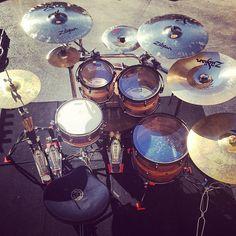 I love this @greinerkilmer drum-kit. Built by Kaleb Kilmer, played by Adam Gray. #iplaygreinerkilmer #Padgram