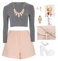 """""""A haircut like this"""" by biange on Polyvore featuring mode, Finders Keepers, Glamorous, Nly Shoes, M.N.G, Rivka Friedman, Merona, Betsey Johnson en LAQA & Co."""