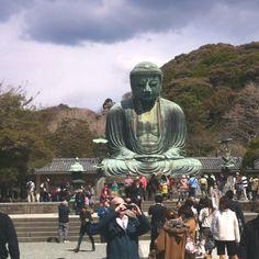 Daibutsu ! large buddha statue.