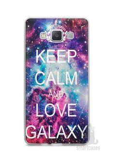 Capa Capinha Samsung A7 2015 Keep Calm and Love Galaxy - SmartCases - Acessórios para celulares e tablets :)