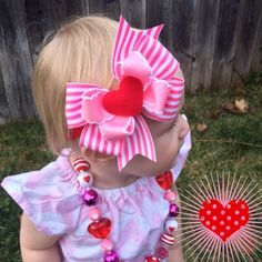Baby Heart Headband Baby Bow Valenties Day Day Bow Hair Bow Boutique Hair Bow Re… - Modernes Elastic Headbands, Baby Headbands, 2 Baby, Valentines Day Baby, Boutique Hair Bows, Cute Bows, Baby Bows, Pinwheels, Hot Pink