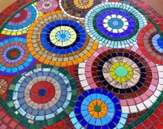 Works in mosaic: Colorful Table Top Mosaic Pots, Mosaic Glass, Mosaic Tiles, Glass Art, Mosaics, Stained Glass, Mosaic Crafts, Mosaic Projects, Free Mosaic Patterns