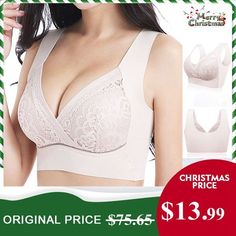 8dc2062a2e038 Sexy Butterfly Embroidery Front Closure Wireless Adjustable Gather Soft Bras  - NewChic Mobile Soft Bra
