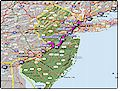 I-95 New Jersey map