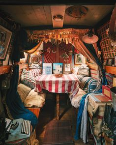Emma Freemantle for Cabana Magazine — Kensington Leverne Photography Mundo Hippie, Cabana Magazine, Narrowboat Interiors, Houseboat Living, Bus Living, Cosy Interior, Van Home, Vw Vintage, Camper Van Conversion Diy