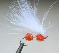 Orange Crystal Double Egg Sperm Fly
