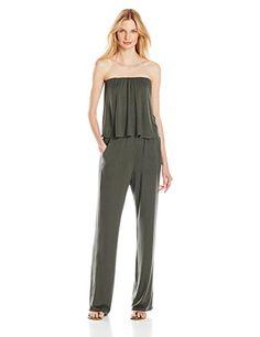 Ella Moss Bella Jersey Strapless Jumpsuit in Algae - http://www.womansindex.com/ella-moss-bella-jersey-strapless-jumpsuit-in-algae/