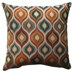 @Overstock.com - Pillow Perfect Flicker Jewel 18-inch Throw Pillow - Add the perfect blend of style and comfort to any space in your home with this 18-inch multicolored hourglass design throw pillow from Pillow Perfect. This square-shaped throw pillow features a wonderful cotton-constructed cover.   http://www.overstock.com/Home-Garden/Pillow-Perfect-Flicker-Jewel-18-inch-Throw-Pillow/8099753/product.html?CID=214117 $37.99