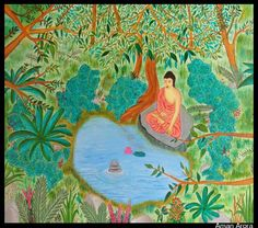 Jungle Life Retreat - Painting by Aman Arora in My Projects at touchtalent 73523