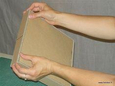 Tuto DIY Fiche pour fabriquer boite en carton - collage couvercle 3 Diy Box, Diy Paper, Paper Shopping Bag, Plastic Cutting Board, Projects, Construction, Miraculous, Boxes, Awesome