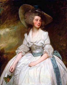 Mrs Francis Russell c.. 1787 by George Romney. Oil on canvas. George Romney b. 1734 d.1802, was now at the peak of his career at the time of this subject he was earning an income of over 3,000 pounds a year. Lady Russell of Swallowfield Park, Berkshire, b. 1764 d.1841. was spouse of Sir Henry Russell, first baronet. Art Institute of Chicago