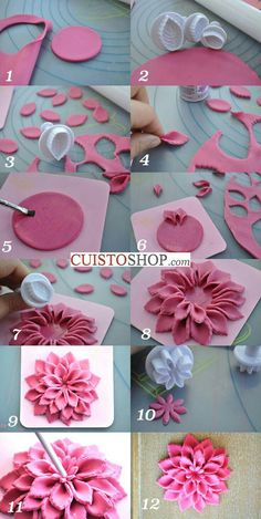 How to make clay flower.