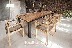 Stół ze starego drewna i metalu CHICAGO Stoły drewniane ze starego drewna i metalu