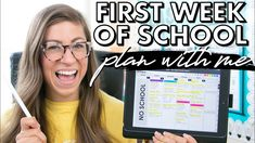 My First Week of School Plans | VIRTUAL TEACHING Pocketful Of Primary, Future Videos, School Plan, One Week, Teaching, How To Plan, Store, Youtube, Remote