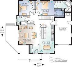 Plan de Rez-de-chaussée Plan de plain-pied conçu pour baby-boomer, grande suite chambre des maîtres, îlot à la cuisine, garage - Nala
