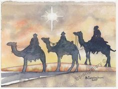 the wise men watercolor