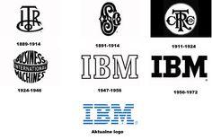 Zmiany logo IBM odzwierciedlają ewolucję firmy od International Time Recording Company (ITR), która połączyła się Computing-Tabulating-Recording Company, aż do znanej obecnie na całym świecie marki IBM. Aktualne logo obowiązuje od 1972 r.