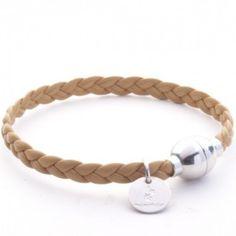 Bracelet tresse fine Camel