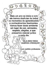 Mensagem Boas Vindas - Educação Infantil Disney Christmas Decorations, Crafts For Kids, Medicine, Coding, Pasta, Skip Counting Activities, Kindergarten, Sometimes I Wonder, Eggs