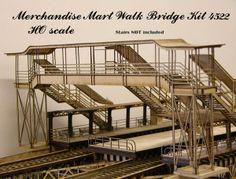 HO Scale Elevated Train | Imagine That Laser Art HO scale Merchandise Mart station track ...