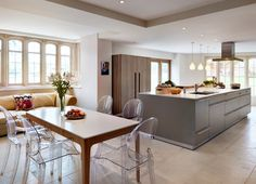 Sympathetic addition to a Cotswold-stone family home contemporary-kitchen