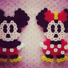 Mickey and Minnie Mouse con hama. Adorables